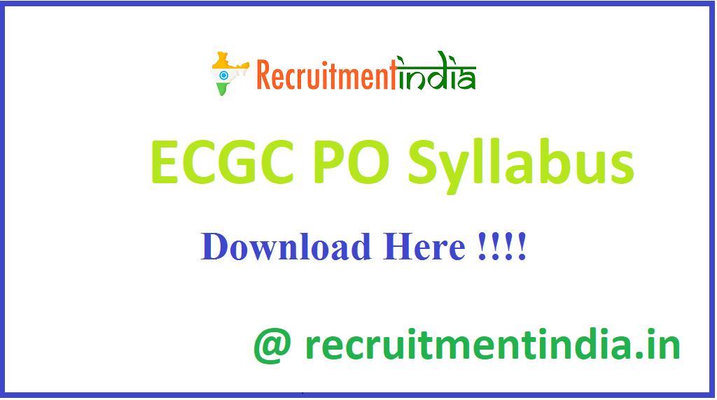 ECGC PO Syllabus