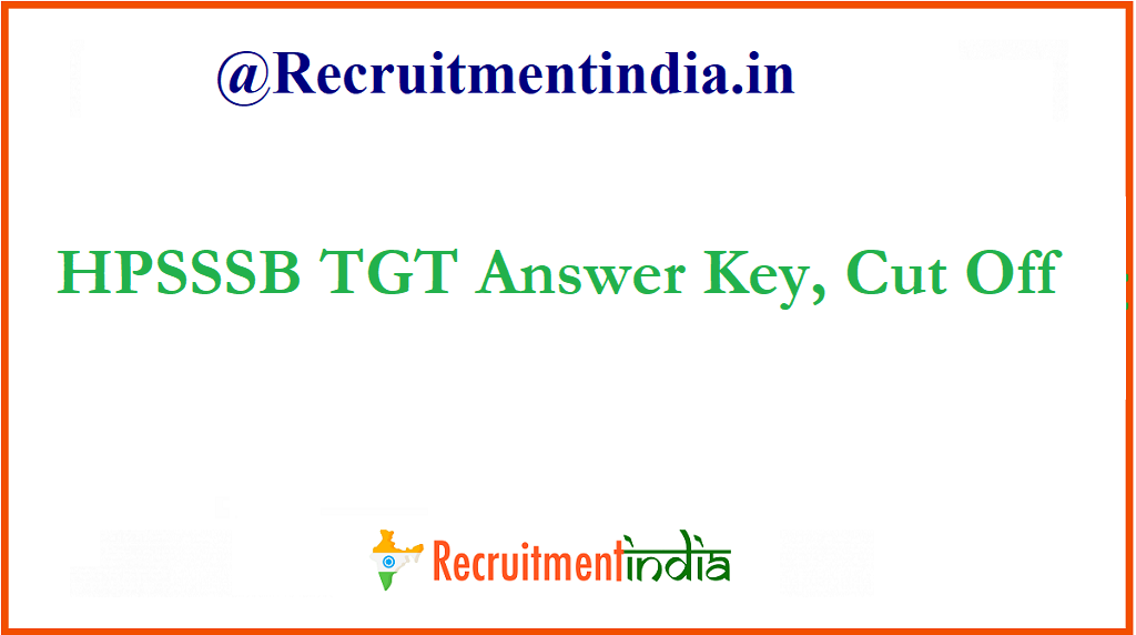 HPSSSB TGT Answer Key
