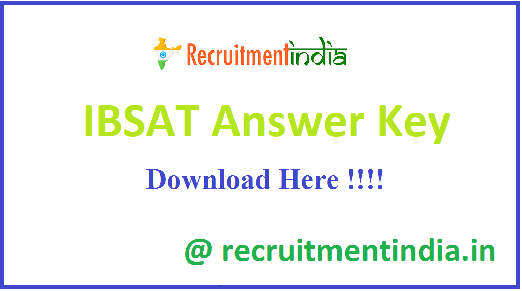 IBSAT Answer Key