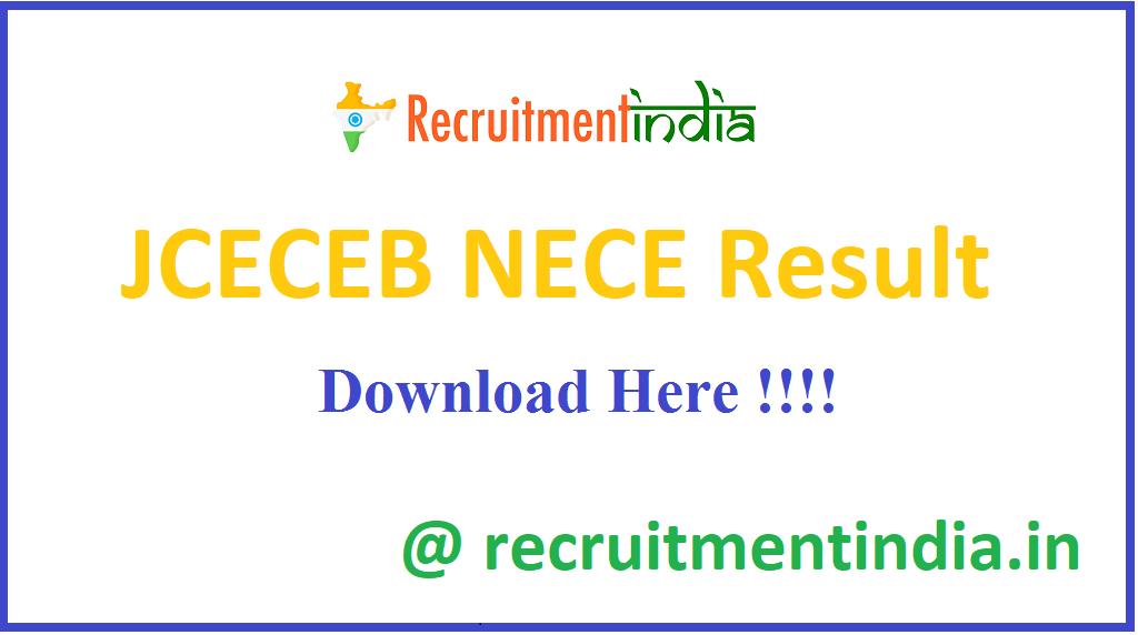 JCECEB NECE Result