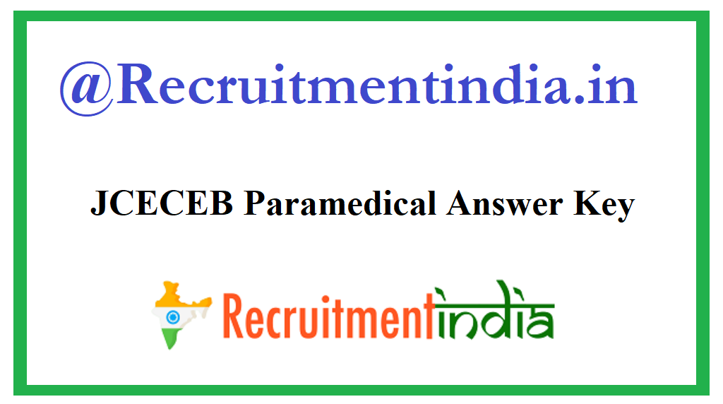 JCECEB Paramedical Answer Key
