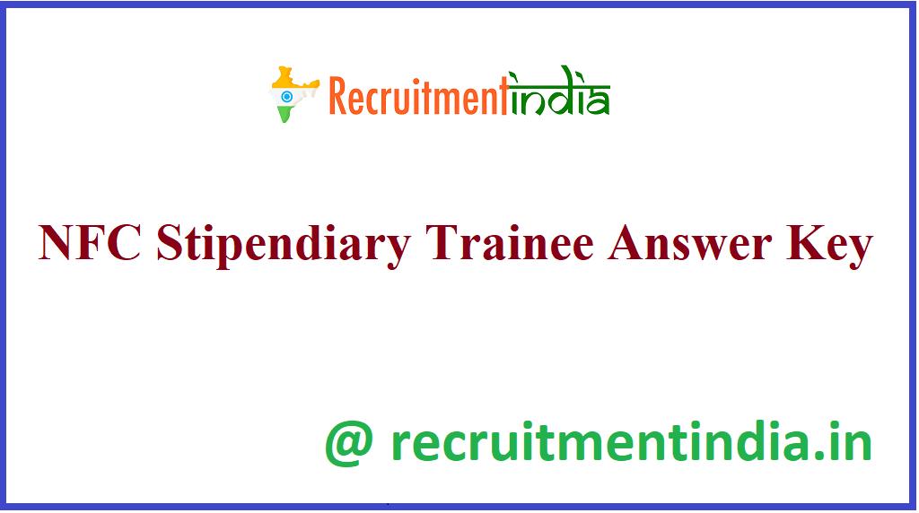 NFC Stipendiary Trainee Answer Key