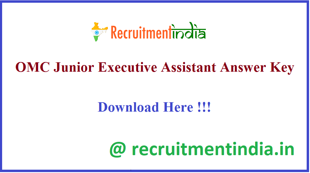 OMC Junior Executive Assistant Answer Key