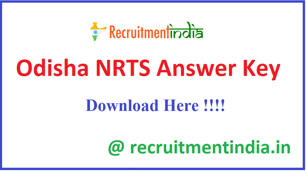 Odisha NRTS Answer Key