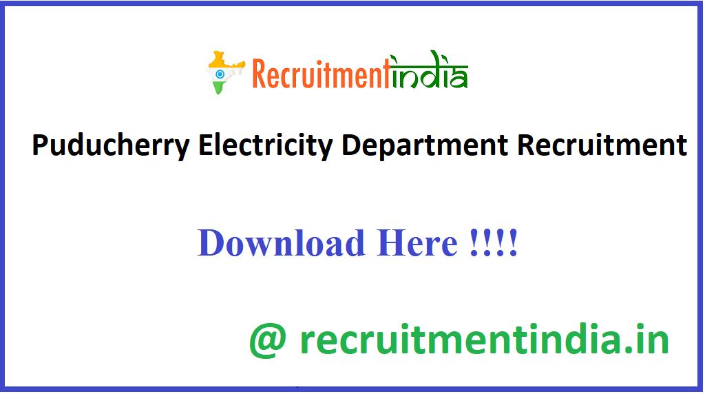 Puducherry Electricity Department Recruitment