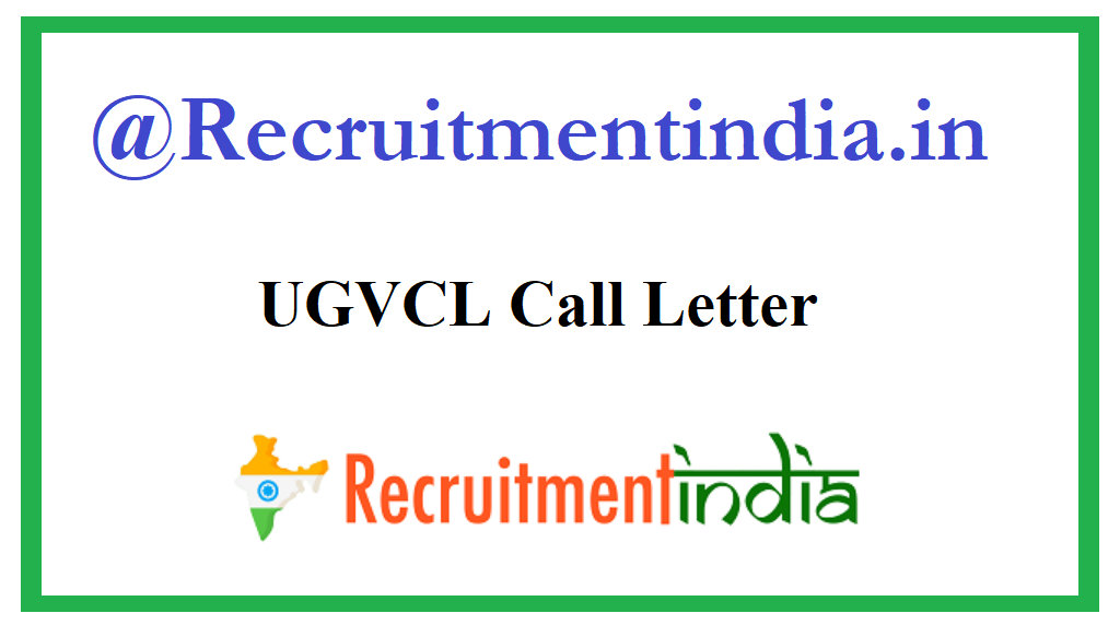 UGVCL Call Letter