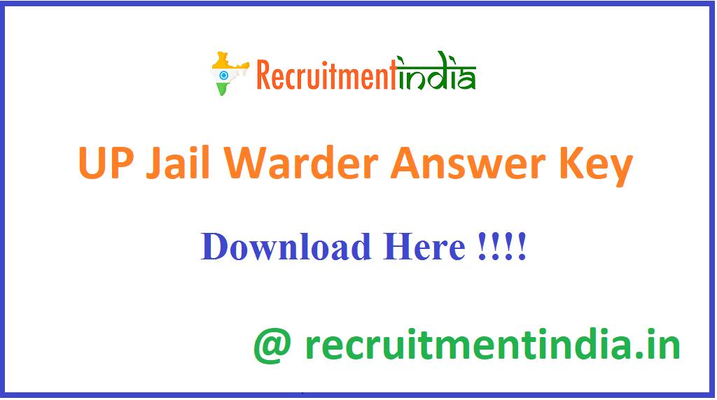 UP Jail Warder Answer Key
