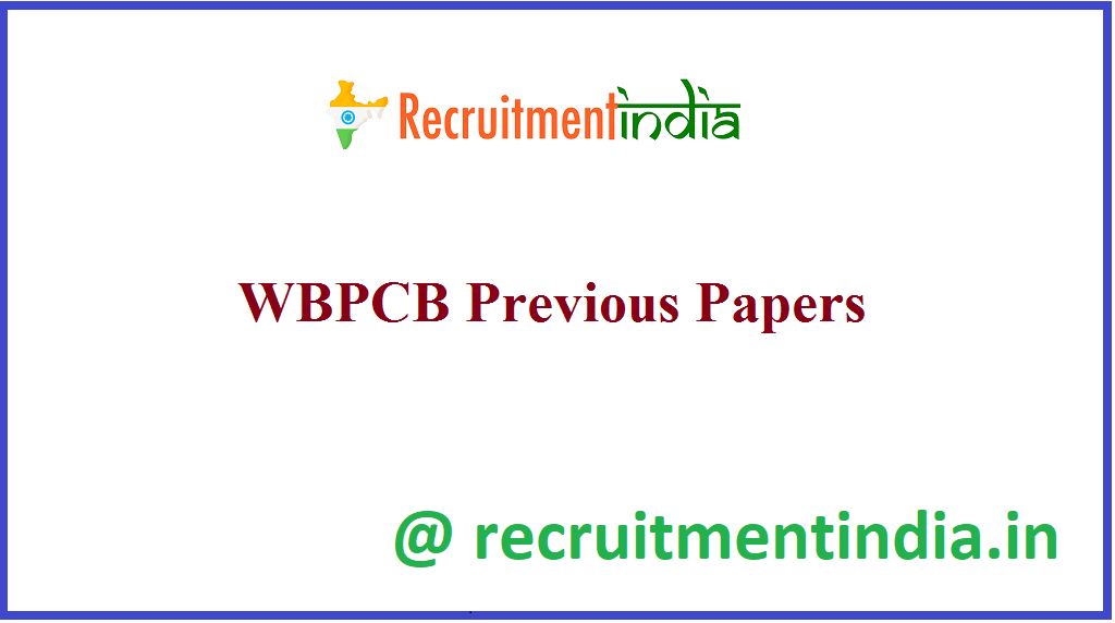 WBPCB Previous Papers