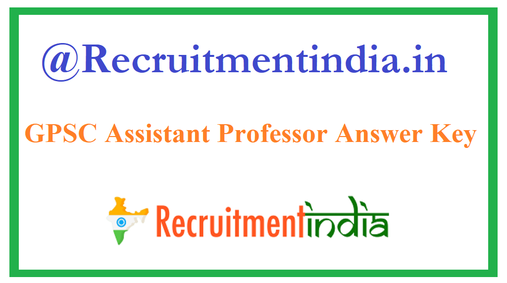 GPSC Assistant Professor Answer Key