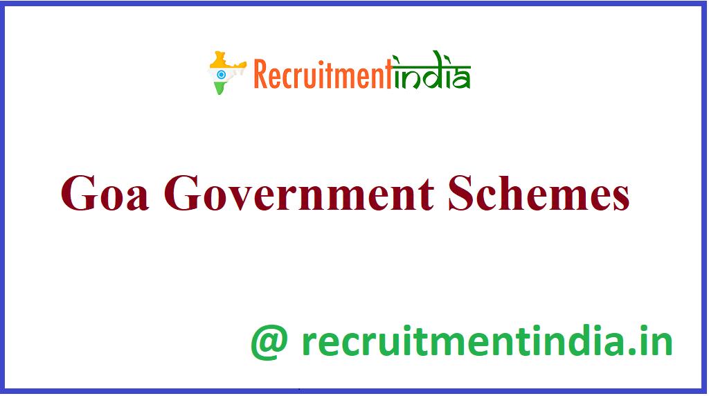 Goa Government Schemes