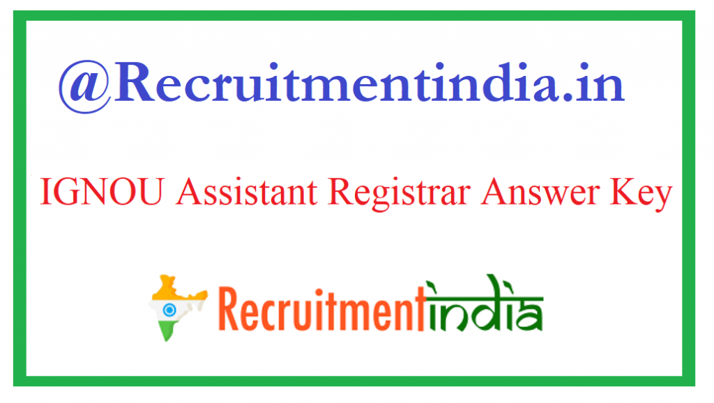 IGNOU Assistant Registrar Answer Key