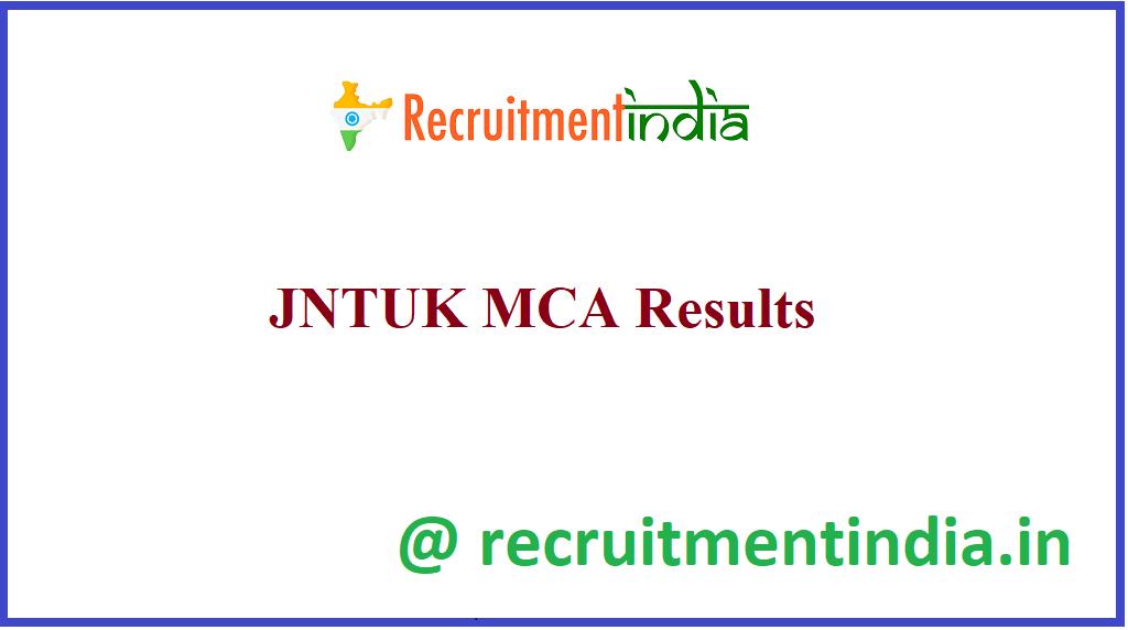 JNTUK MCA Results