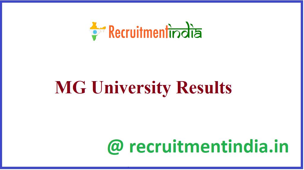 MG University Results
