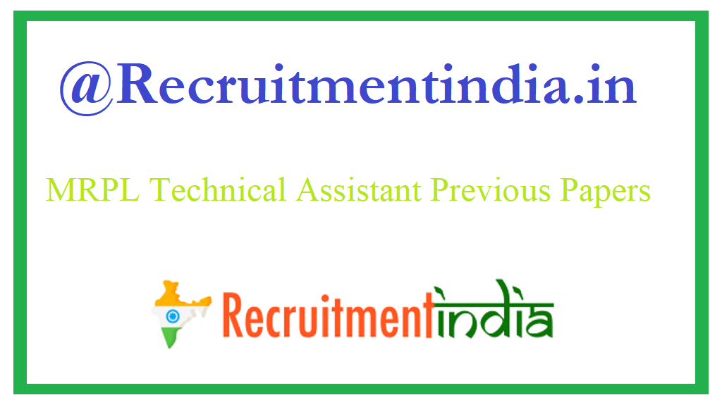 MRPL Technical Assistant Previous Papers