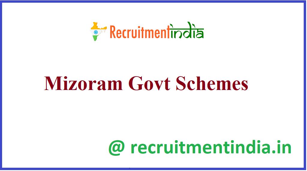 Mizoram Govt Schemes