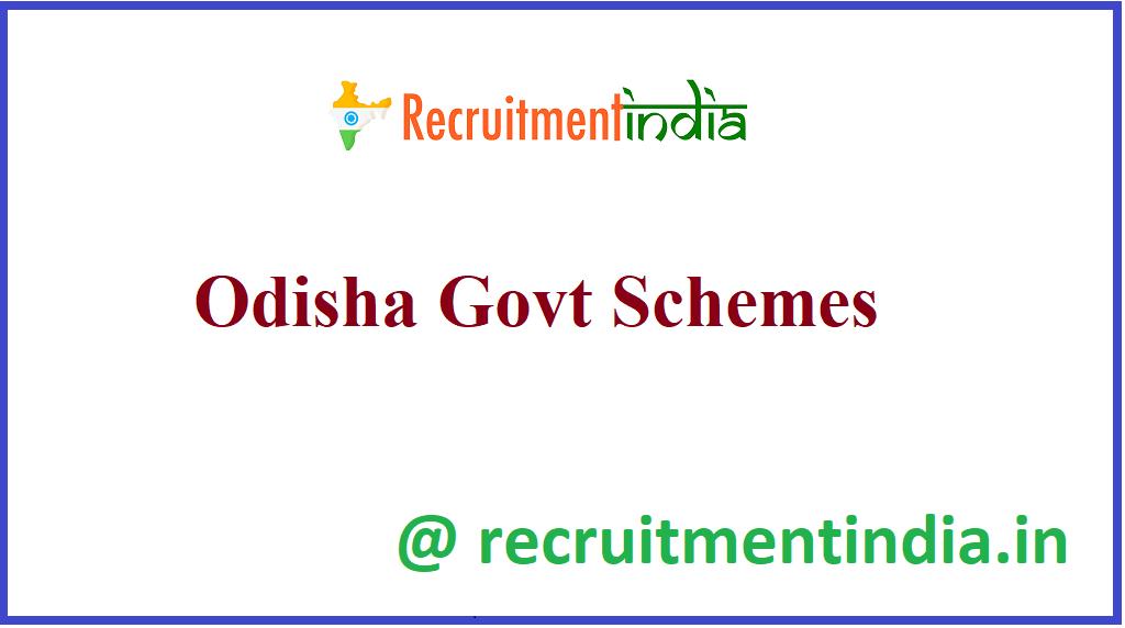 Odisha Govt Schemes