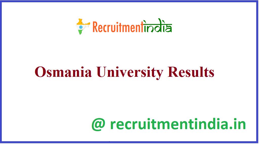 Osmania University Results