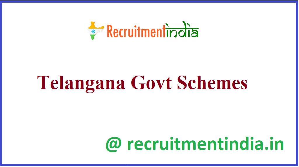 Telangana Govt Schemes