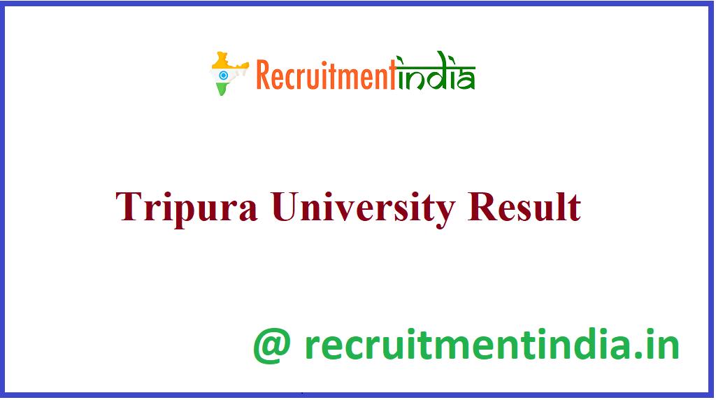 Tripura University Result