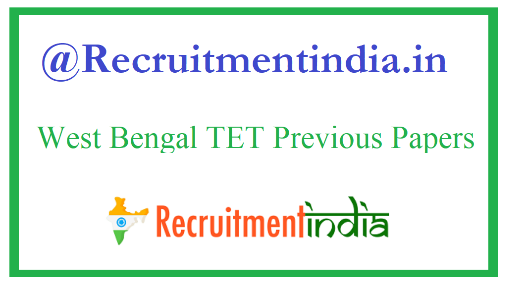 West Bengal TET Previous Papers