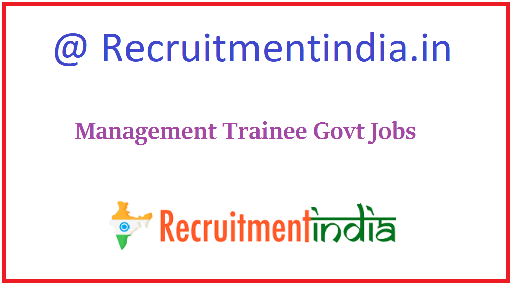 Management Trainee Govt Jobs
