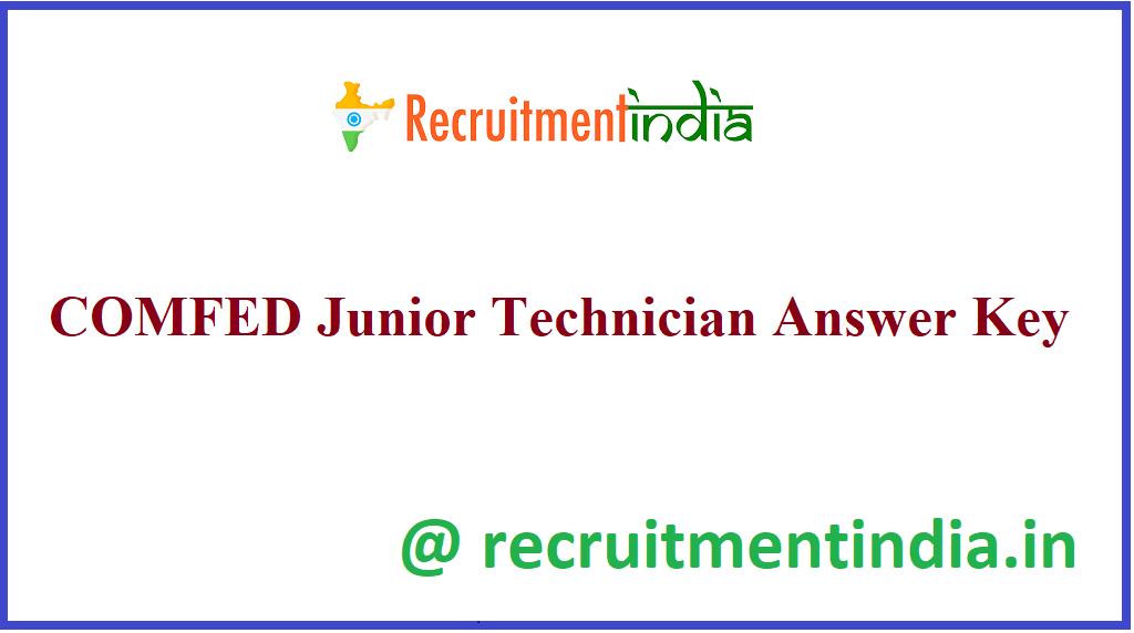 COMFED Junior Technician Answer Key