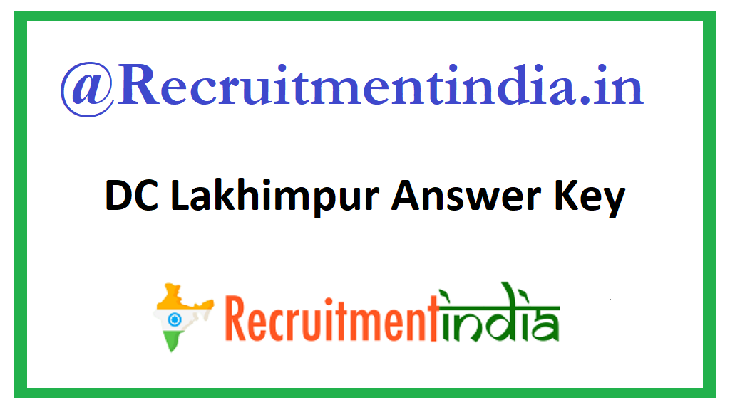 DC Lakhimpur Answer Key