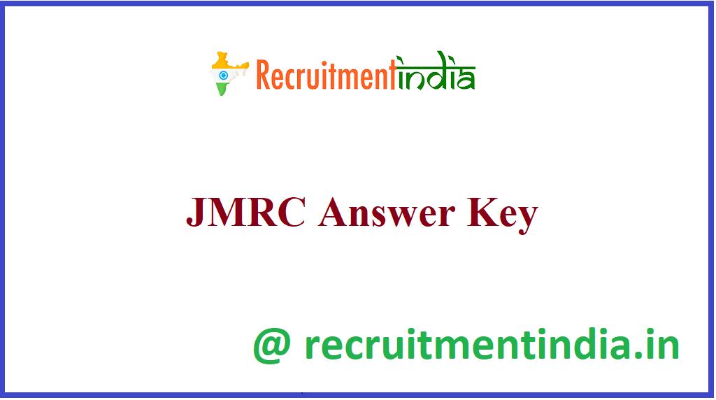 JMRC Answer Key