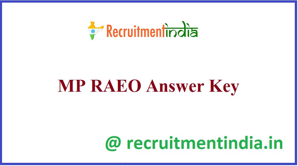 MP RAEO Answer Key