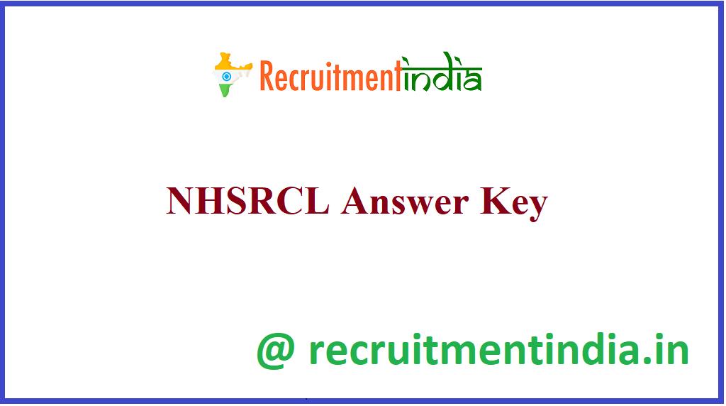 NHSRCL Answer Key