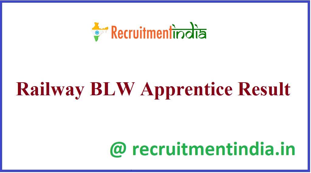 Railway BLW Apprentice Result