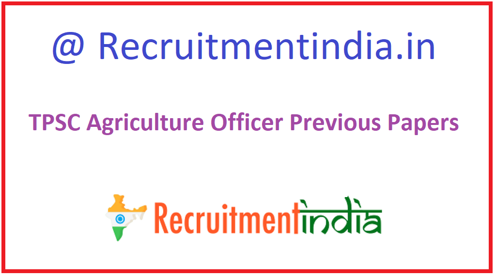 TPSC Agriculture Officer Previous Papers