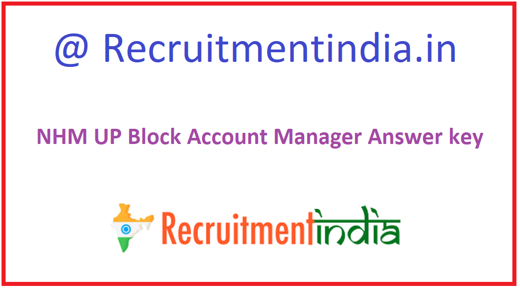 NHM UP Block Account Manager Answer key