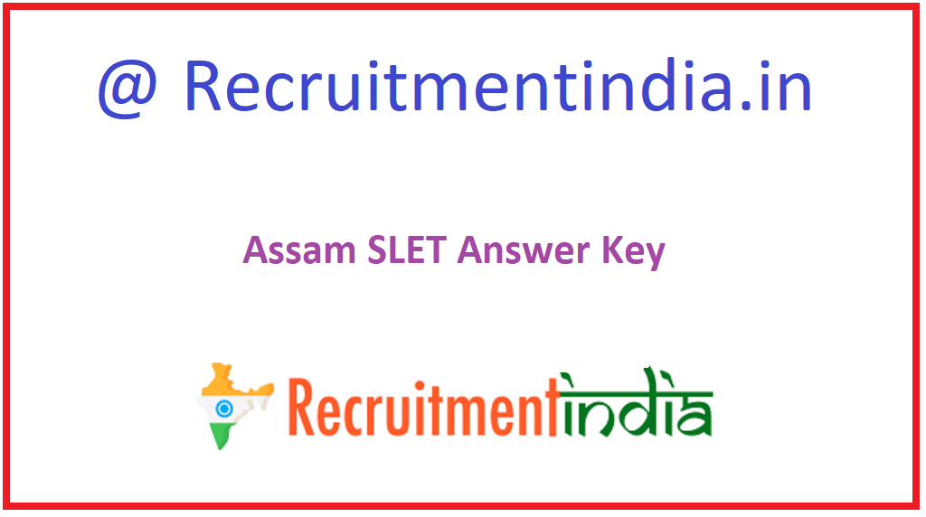 Assam SLET Answer Key