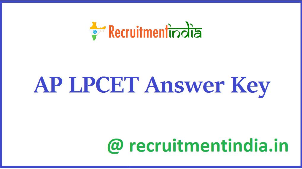 AP LPCET Answer Key