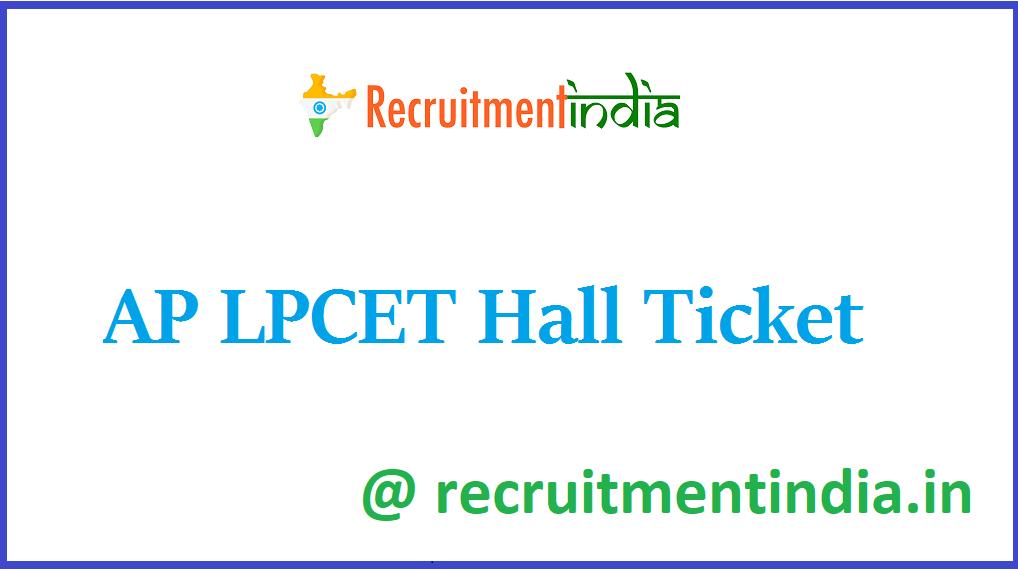 AP LPCET Hall Ticket