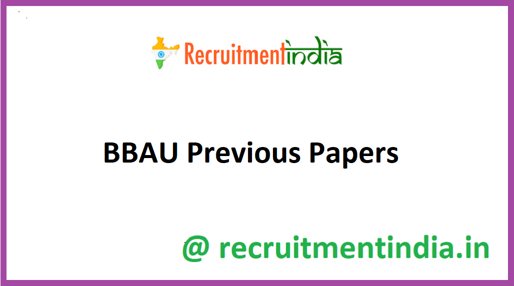 BBAU Previous Papers