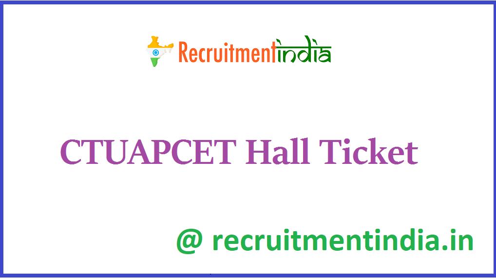 CTUAPCET Hall Ticket