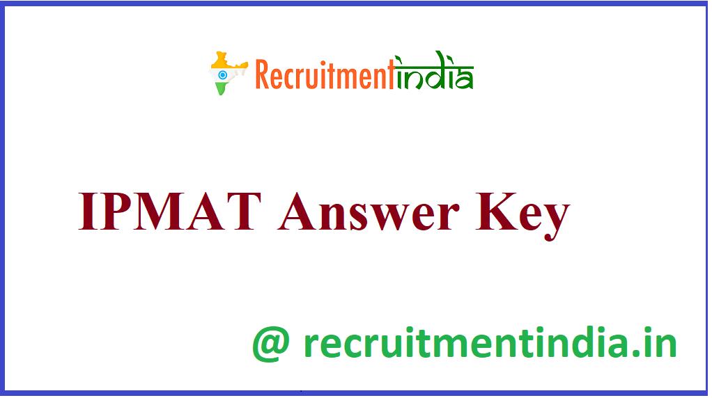 IPMAT Answer Key