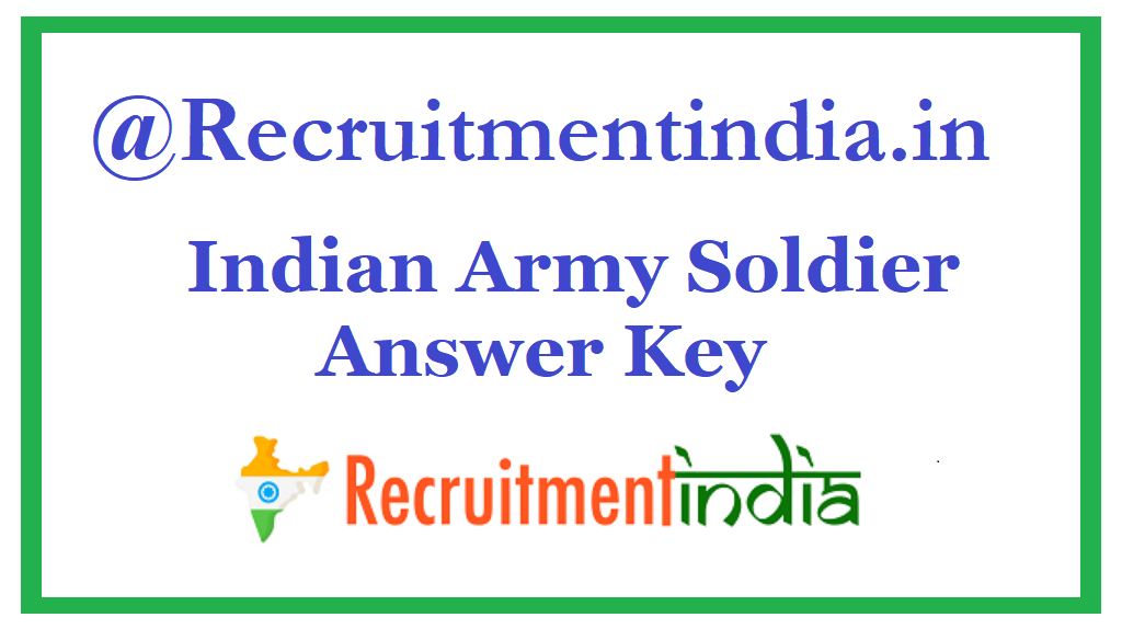 Indian Army Soldier Answer Key
