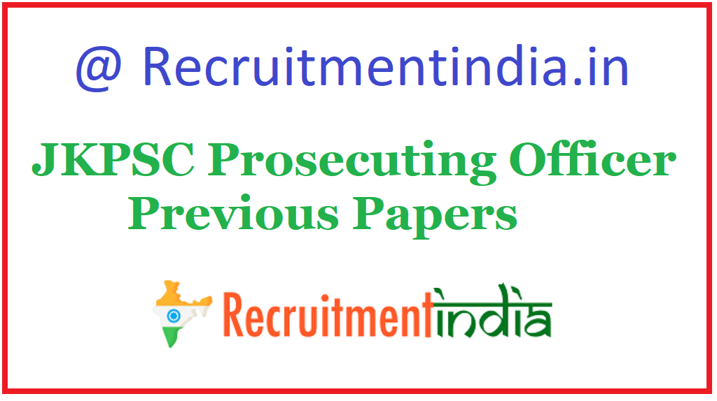 JKPSC Prosecuting Officer Previous Papers
