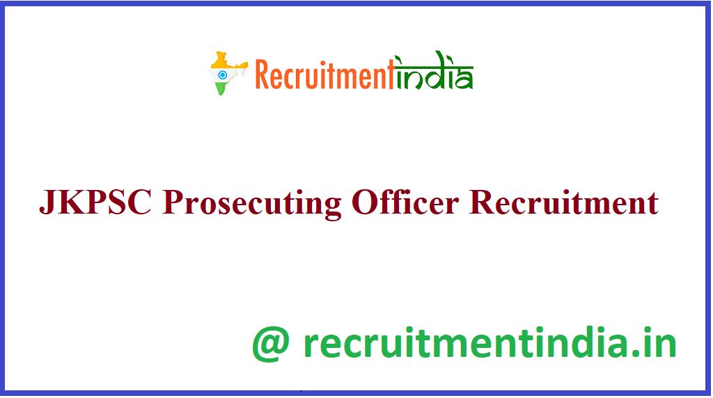 JKPSC Prosecuting Officer Recruitment