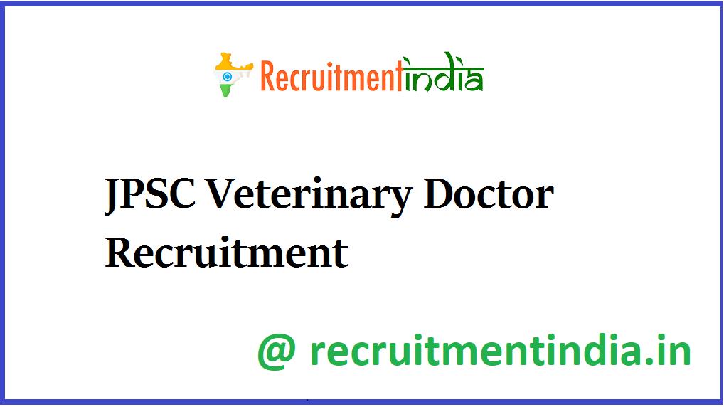 JPSC Veterinary Doctor Recruitment