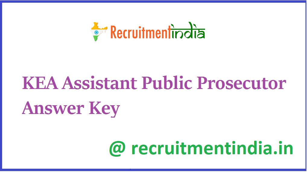 KEA Assistant Public Prosecutor Answer Key