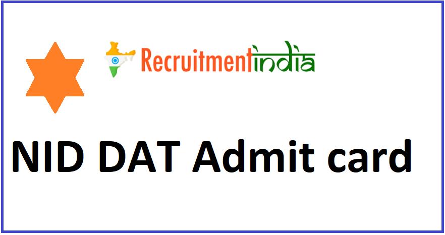 NID DAT Admit Card