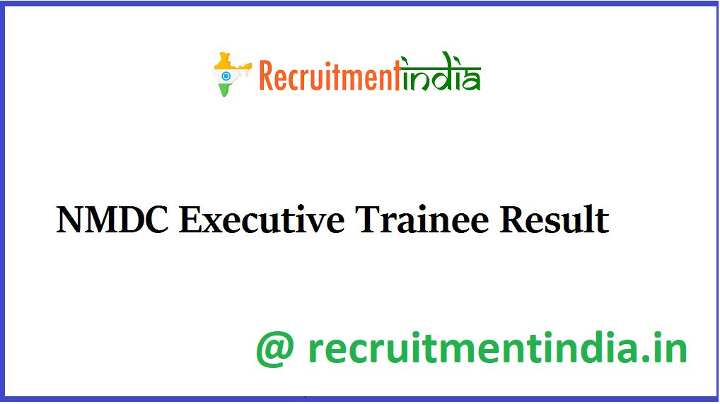 NMDC Executive Trainee Result