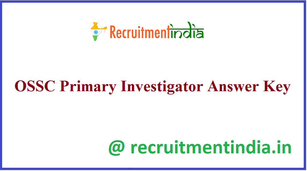 OSSC Primary Investigator Answer Key