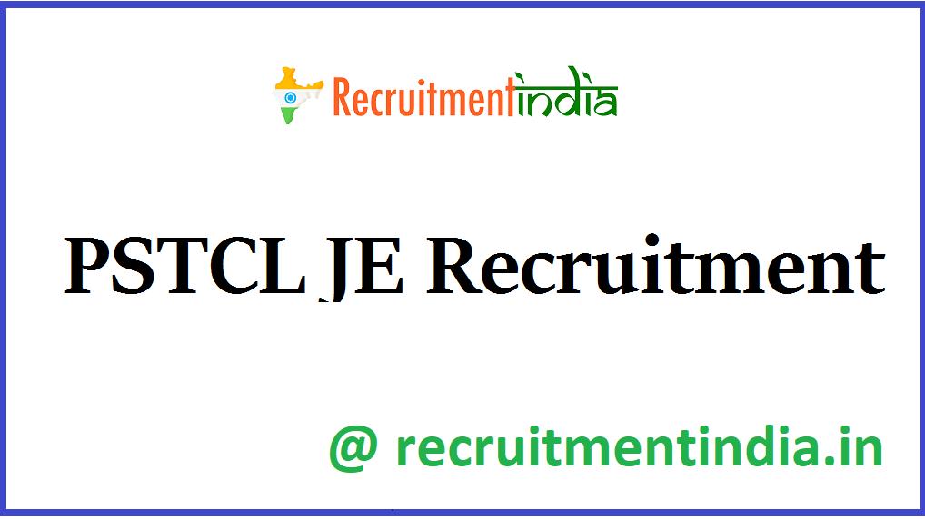 PSTCL JE Recruitment