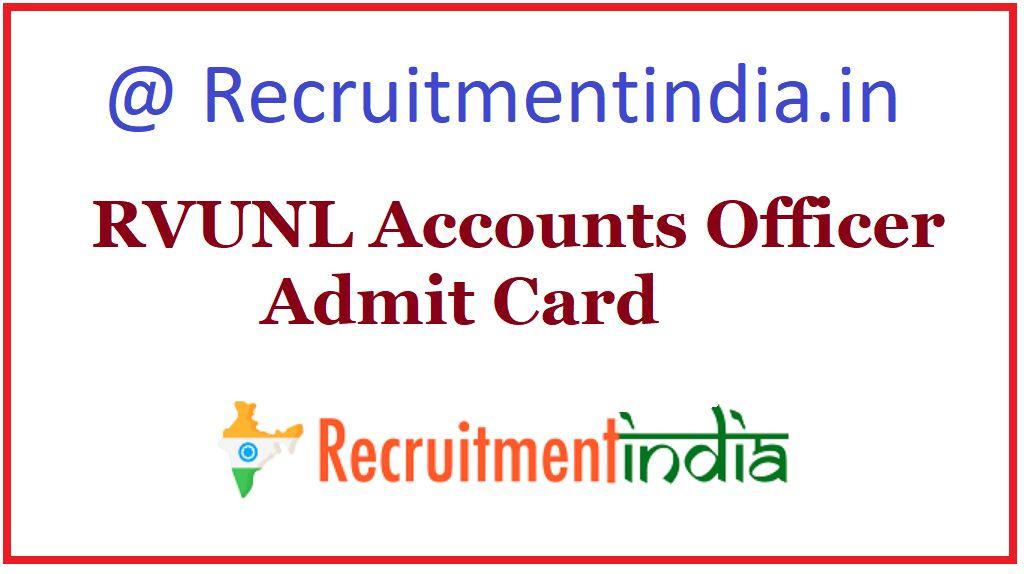 RVUNL Account Officer Admission Card