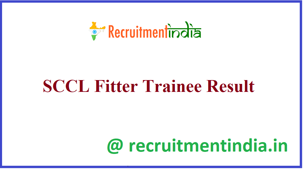 SCCL Fitter Trainee Result
